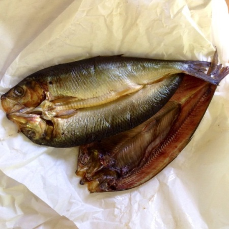 Freshly smoked kippers